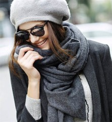chunky cashmere wool shawl and stole