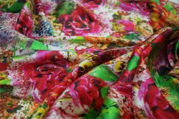 digital printed silk fabric