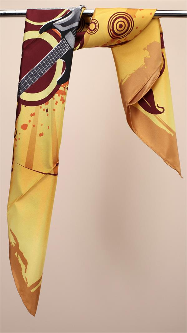 yolk silk twill scarf high quality