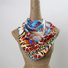 fashion silk satin foulard with beautiful print