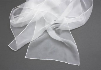 greige white stole for hand painting