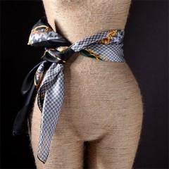 hand rolled dressy shiny silk duchess satin scarf