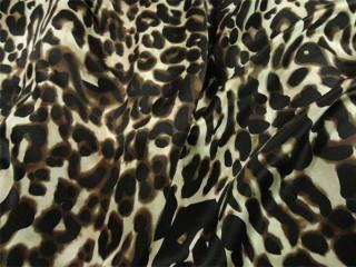 leopard animal print satin silk fabric