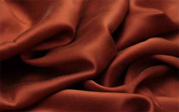 luxury silk satin fabric chocolate color