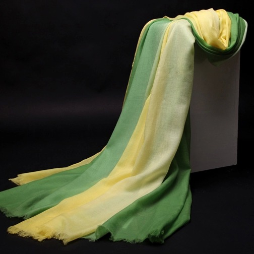 ombre shade superfine cashmere shawl lightweight