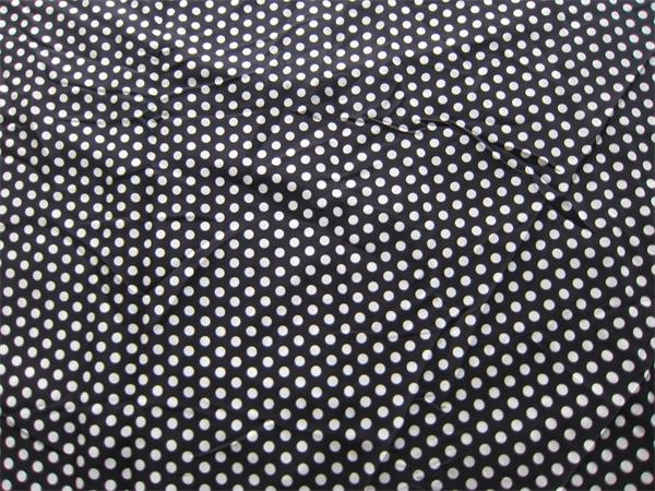 polka dot silk crepe de chine