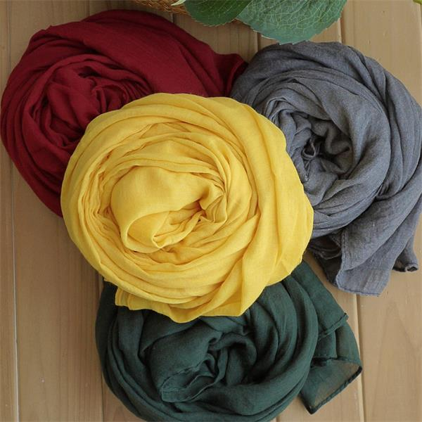 popular polyester voile stoles of various colors
