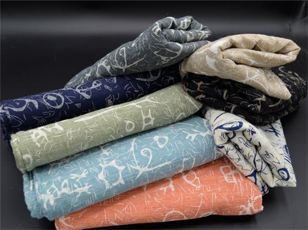printed polyester cotton like voile scarves