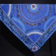 russian silk twill square scarf