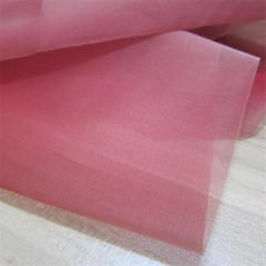 silk organza fabric red color yarn dyed