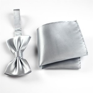 silk pocket hanky and silk bow tie set