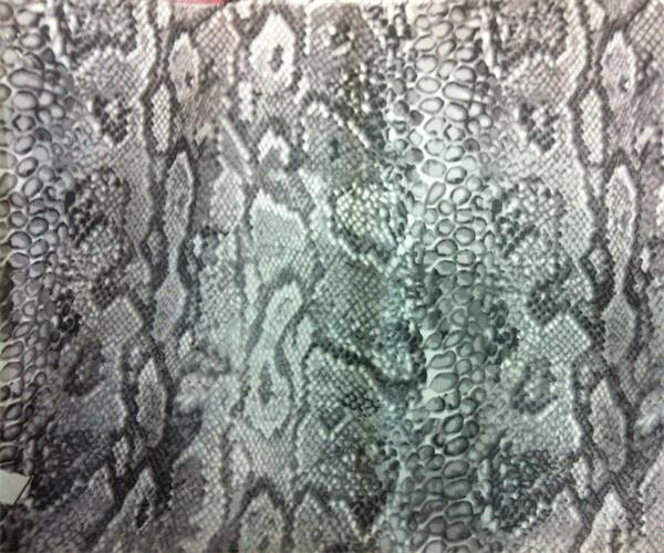 snake animal print light weight thin silk chiffon fabric
