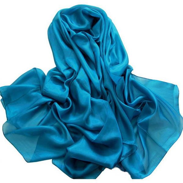 turq solid dyed polyester stole silk feeling