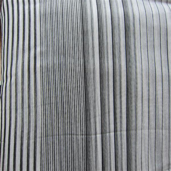 yarn dye striped silk chiffon fabric