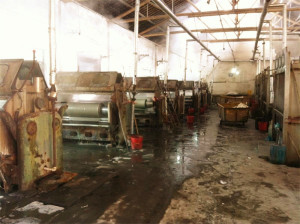 silk fabric dying