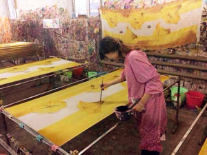 wool scarf hand painting (4)