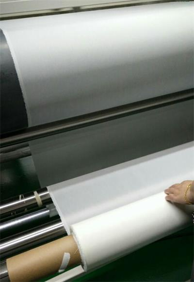 dry and roll fabrics after adding chemicial water