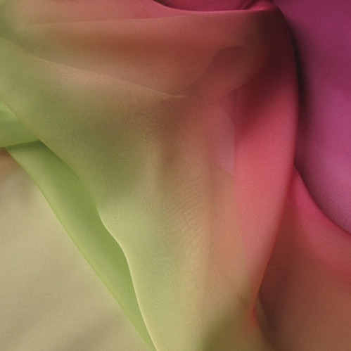 gradient silk fabric chiffon (1)