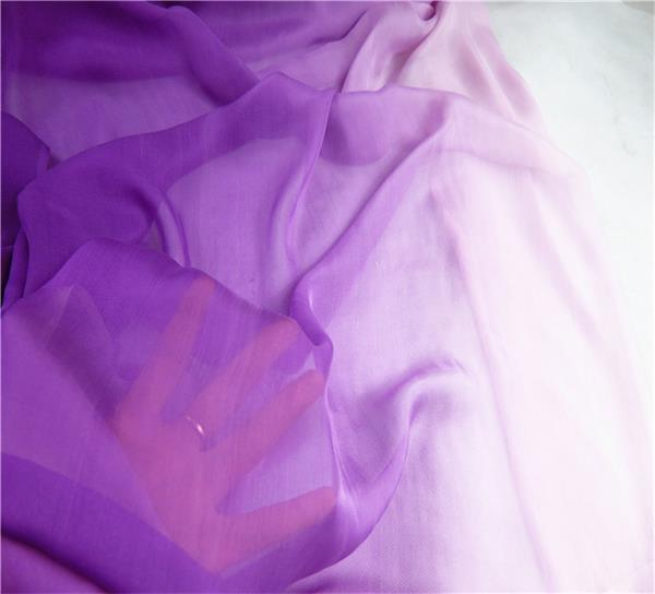 gradient silk fabric chiffon (5)