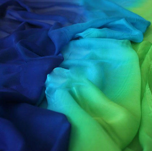 gradient silk fabric chiffon (8)