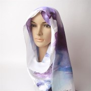 2012 Digital Printed Silk Satin Head Scarf