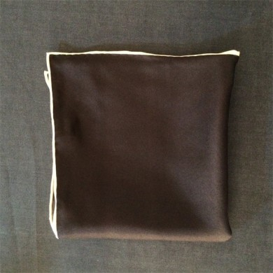Solid Color Navy Silk Twill Mens Pocket Squares