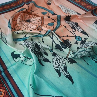 90cm scarf of twill silk base digital printed (1)