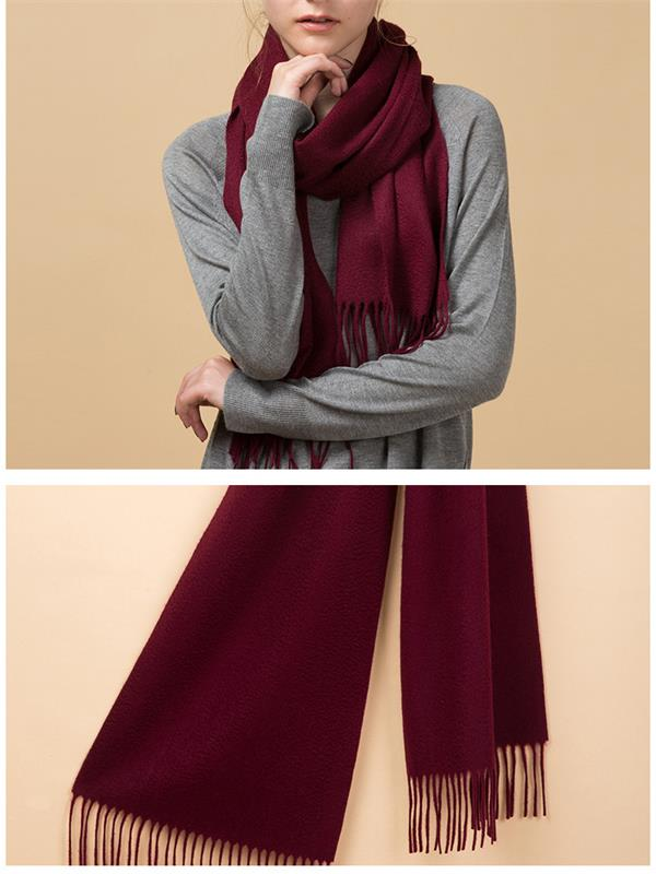 Burgundy High Quality Cashmere Scarf for Scarf Distributor (1)