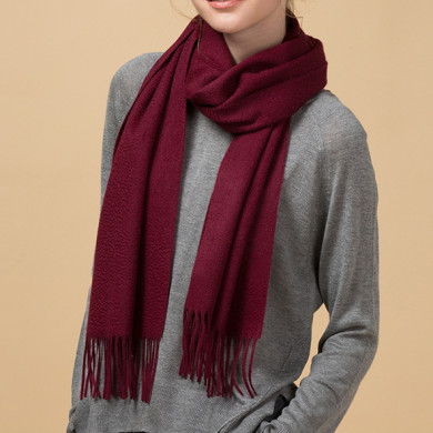 Burgundy High Quality Cashmere Scarf for Scarf Distributor (2)
