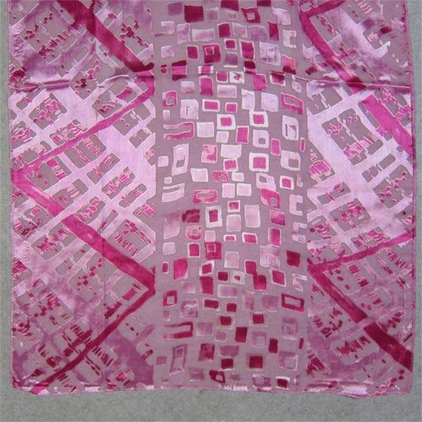 Burn Out Silk Scarf Head Wrap (4)