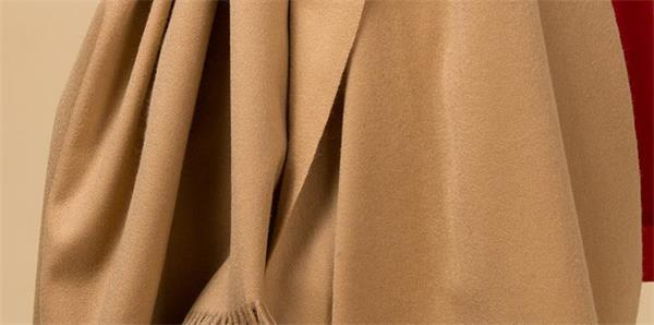 Camel Color Thermal Large Cashmere Scarf Shawl (2)