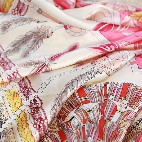 Elegant Formal Silk Scarf 90cm Square from Silk Scarf Factory (1)