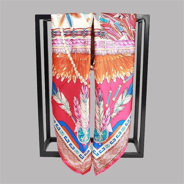 Elegant Formal Silk Scarf 90cm Square from Silk Scarf Factory (2)