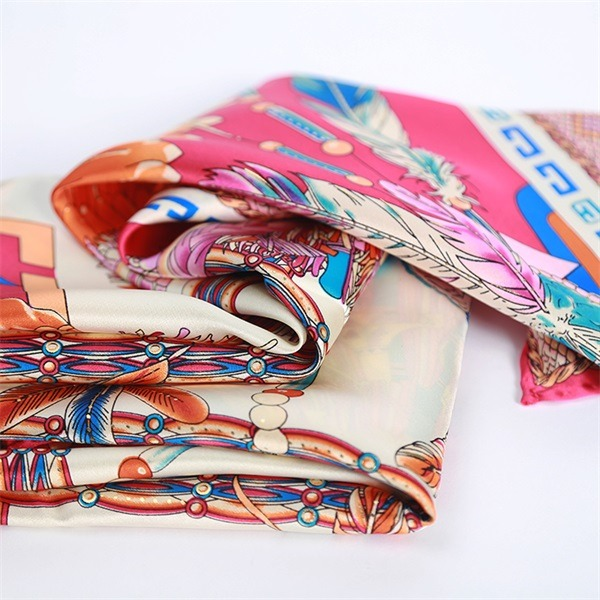 Elegant Formal Silk Scarf 90cm Square from Silk Scarf Factory (4)