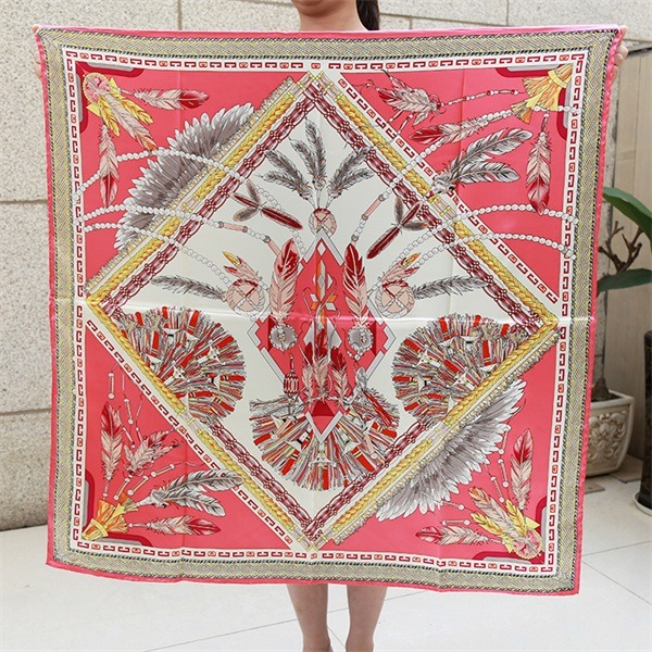 Elegant Formal Silk Scarf 90cm Square from Silk Scarf Factory (5)