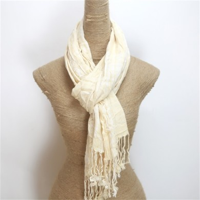 Fancy Crimp Ladies Cotton Acrylic Mix Scarf (2)