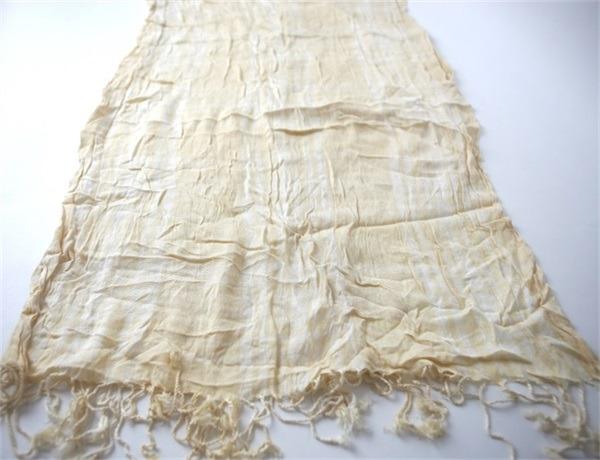 Fancy Crimp Ladies Cotton Acrylic Mix Scarf (3)