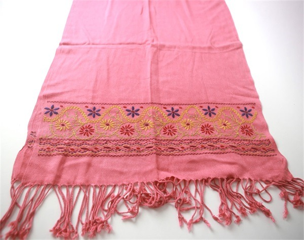 Fancy Viscose Embroidered Scarves for Women (2)
