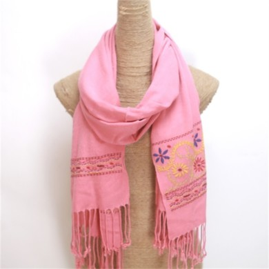 Fancy Viscose Embroidered Scarves for Women (3)
