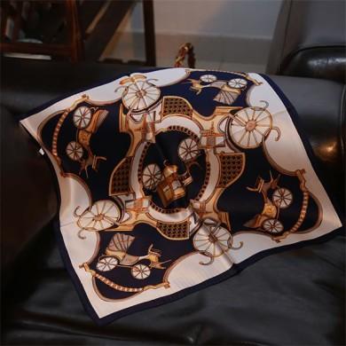 Fashion Korean Printed Silk Bandana Scarf (2)