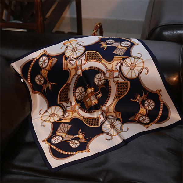 Fashion Korean Printed Silk Bandana Scarf (2)