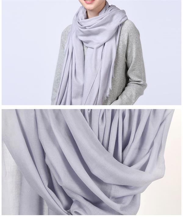 High End Solid Color Extrafine Thin Cashmere Scarf (1)