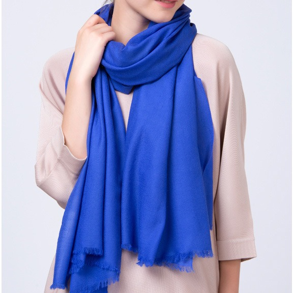High End Solid Color Extrafine Thin Cashmere Scarf (2)