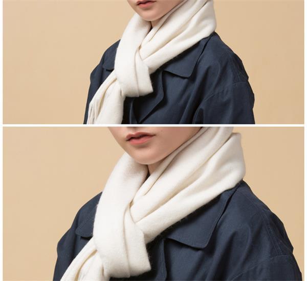 Ivory Chunky Wool Scarf (1)