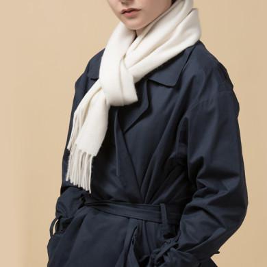 Ivory Chunky Wool Scarf (2)