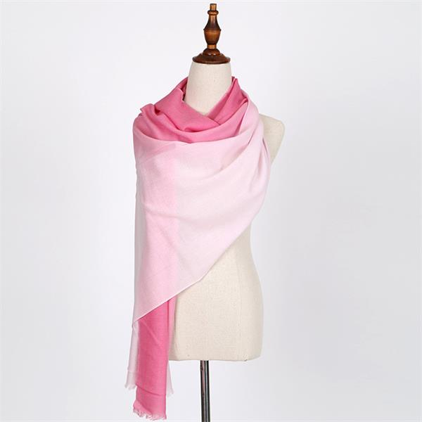 Ombre Long Winter Wool Long Scarf (3)