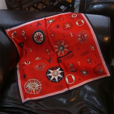 Promotional Red Silk Neckerchief from Silk Manufacturers (1)