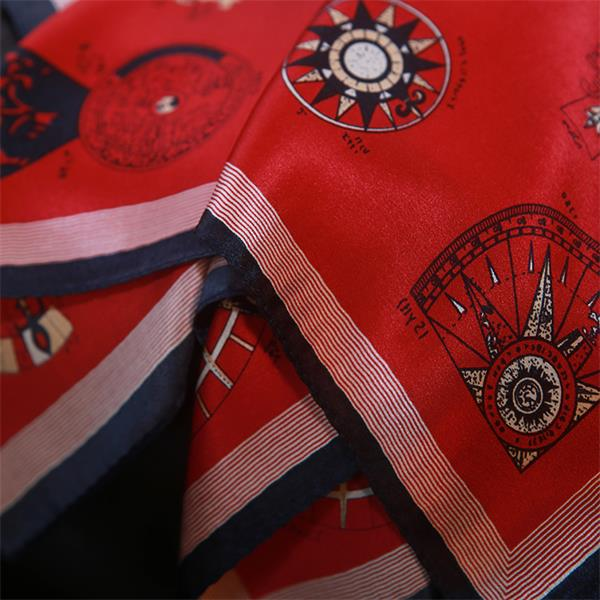 Promotional Red Silk Neckerchief from Silk Manufacturers (2)