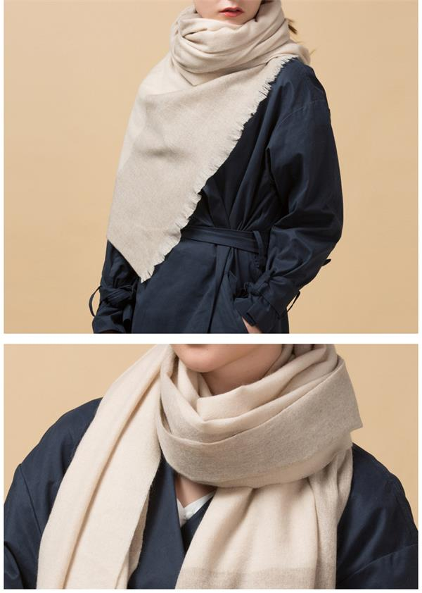 Wholesale Ladies Winter 100 Wool Scarf (2)