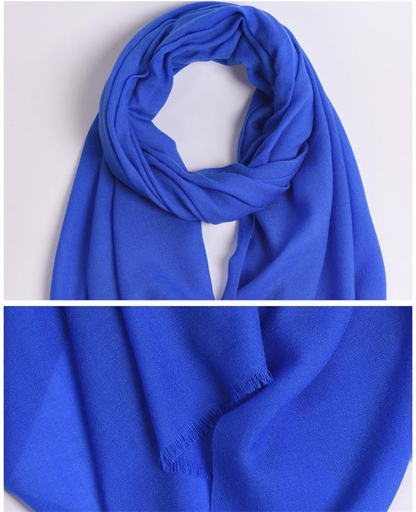 Winter Ladies Fine Wool Shawl Solid Dyed (1)